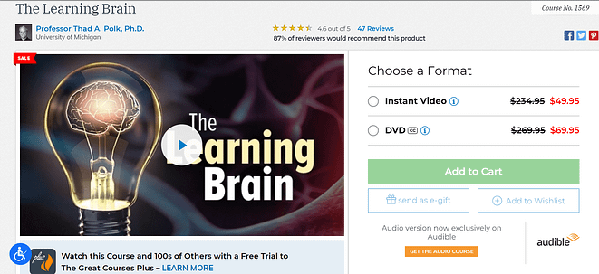 great courses review the learning brain