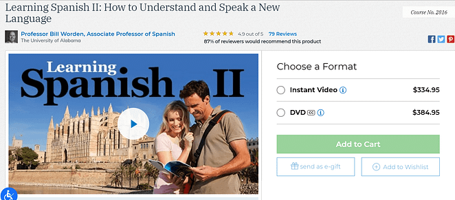 the great courses learning spanish review