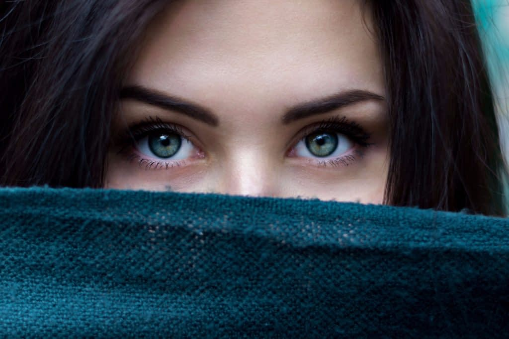 Woman contemplating people who like to be alone