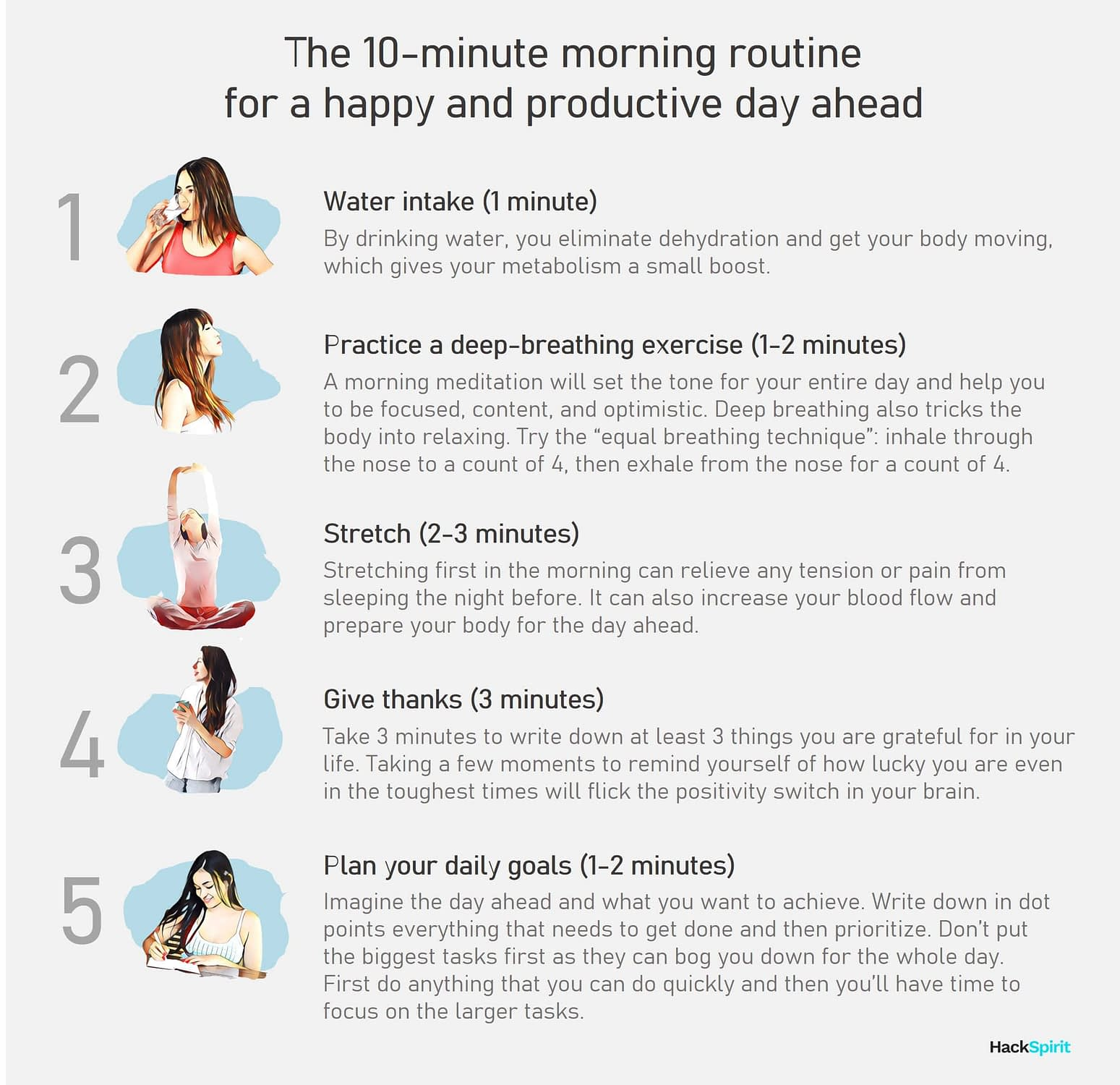 The 10 minute morning routine for a productive day ahead