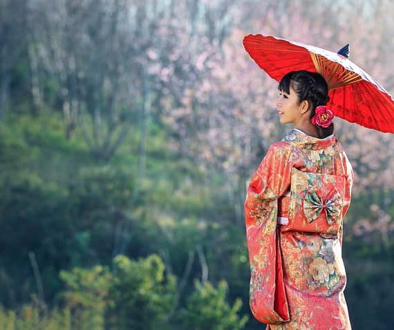 Japanese woman living in the present moment