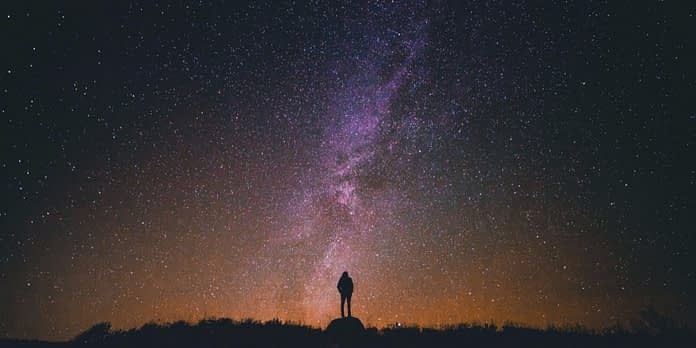 Person admiring the vast sky and Chinese philosophy quotes