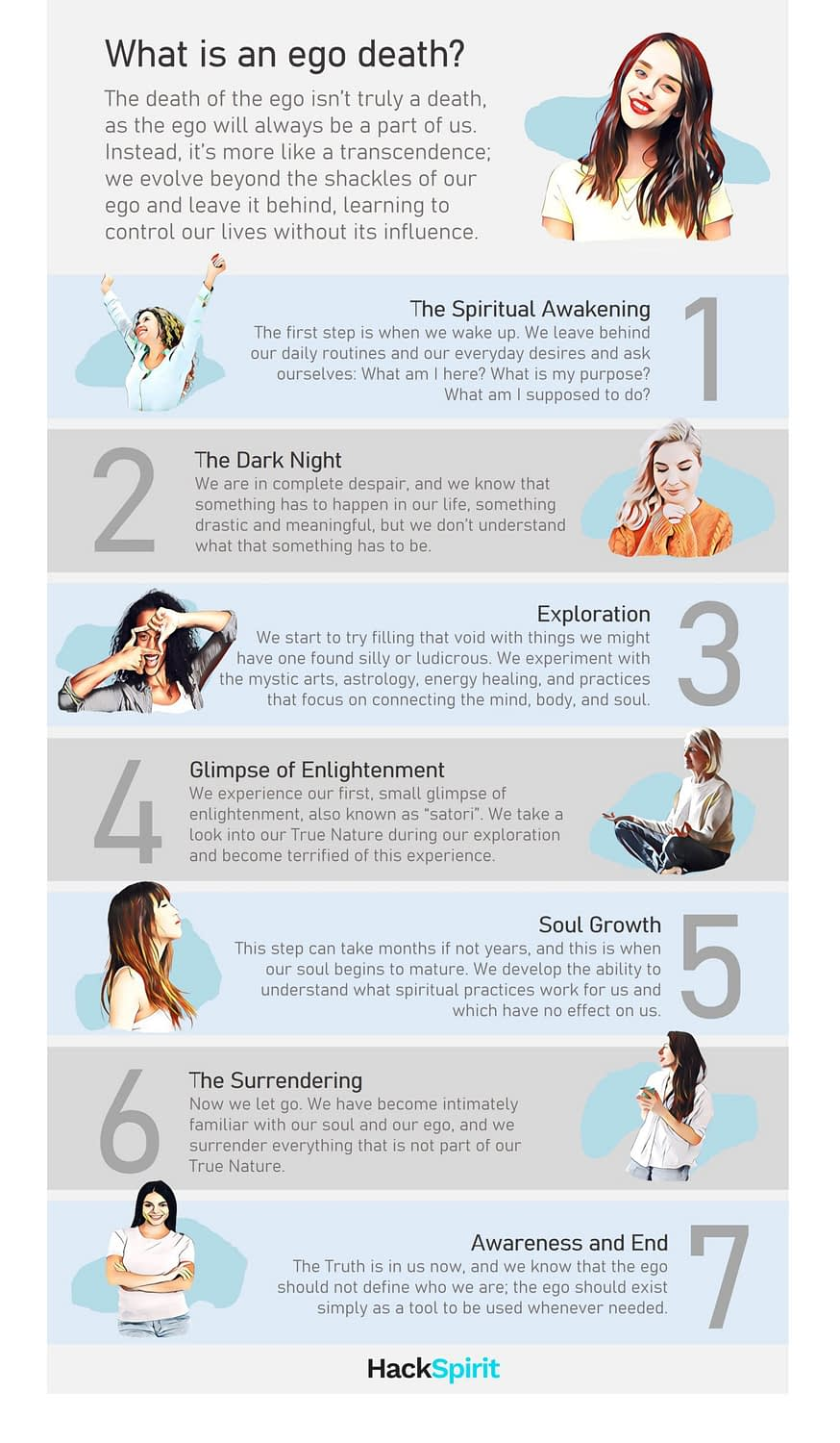 What is ego death? Here are 7 stages of ego death